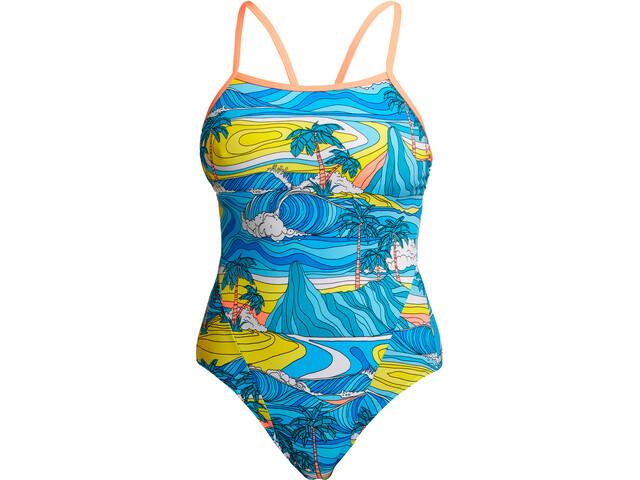 Funkita Eco Single Strap Kostium kąpielowy Kobiety, summer bay